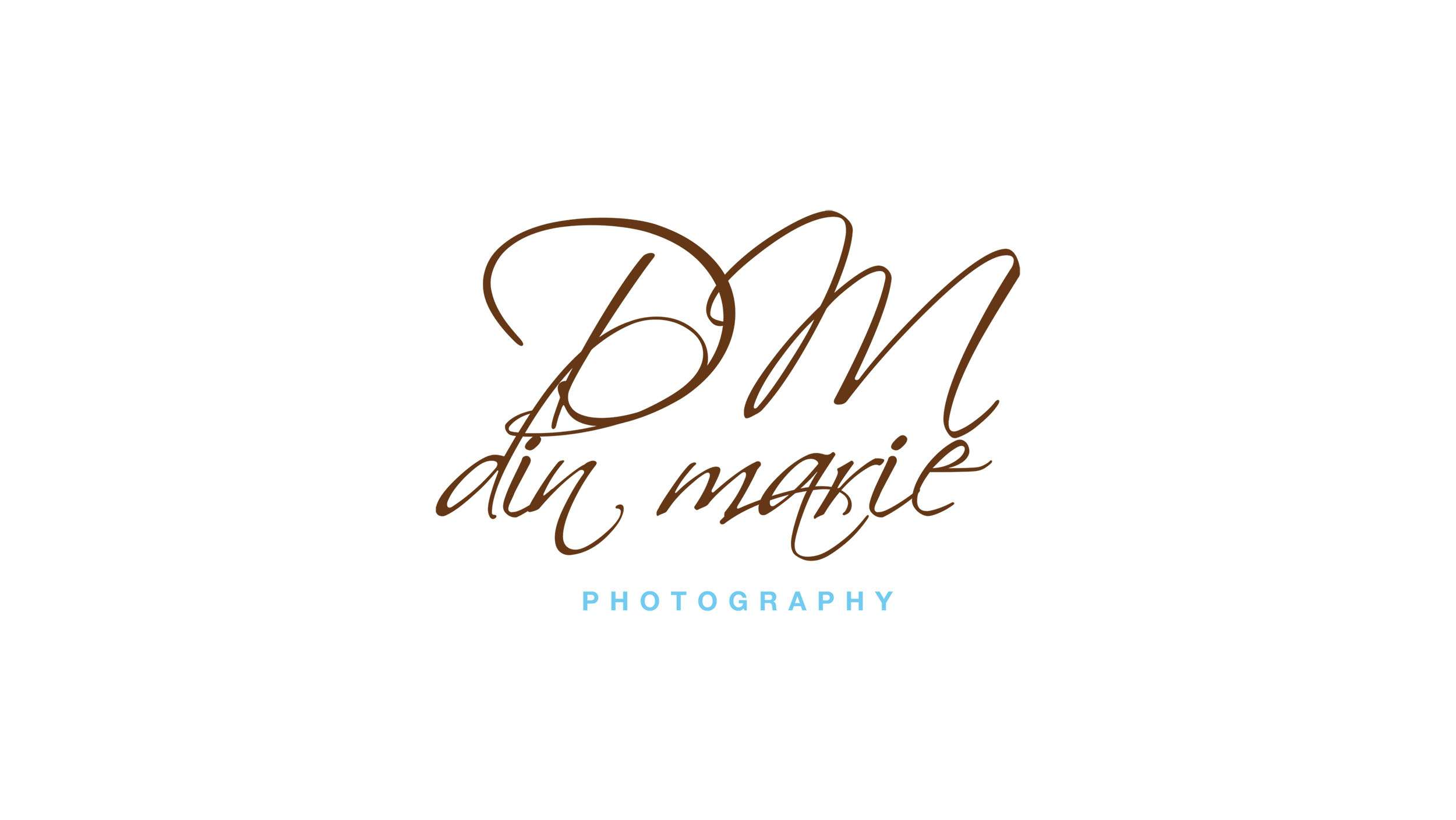 Logo design using script typeface for a professional photographer, Din Marie Photography.