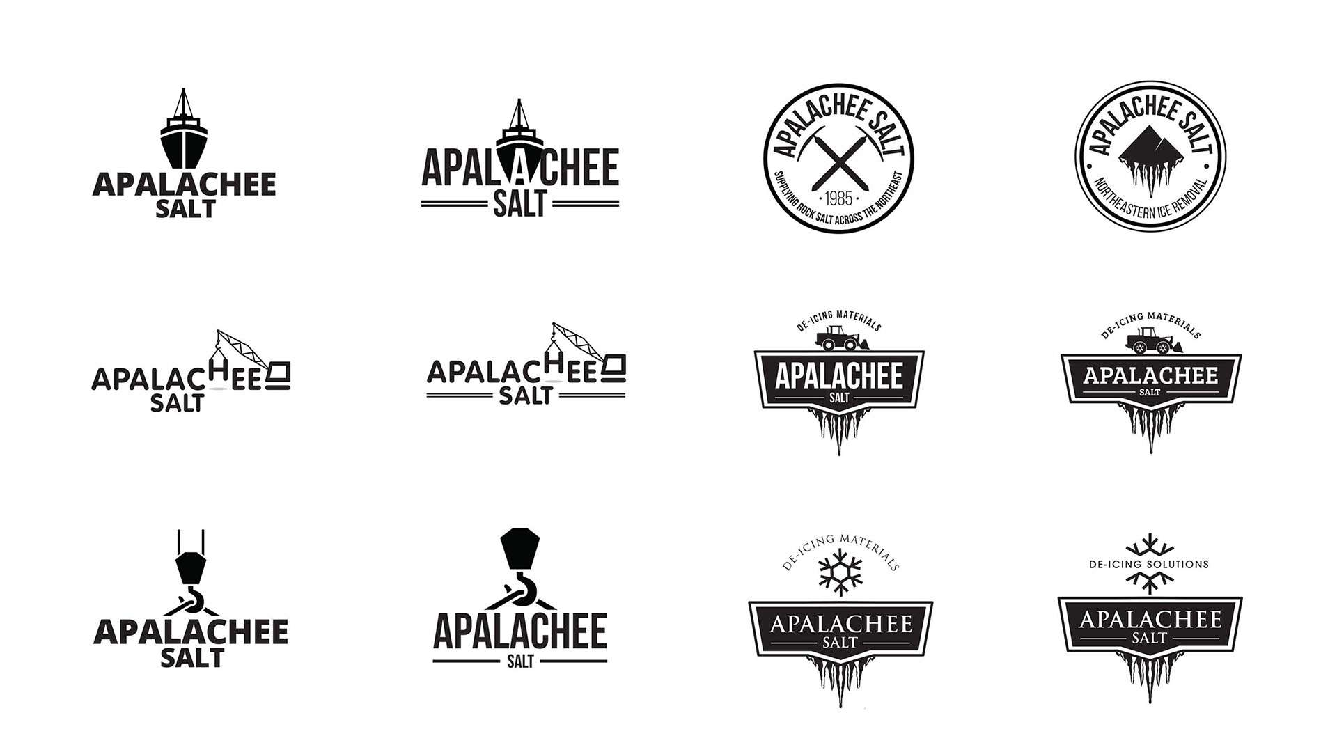Crest logos and ideation for professional shipment services.