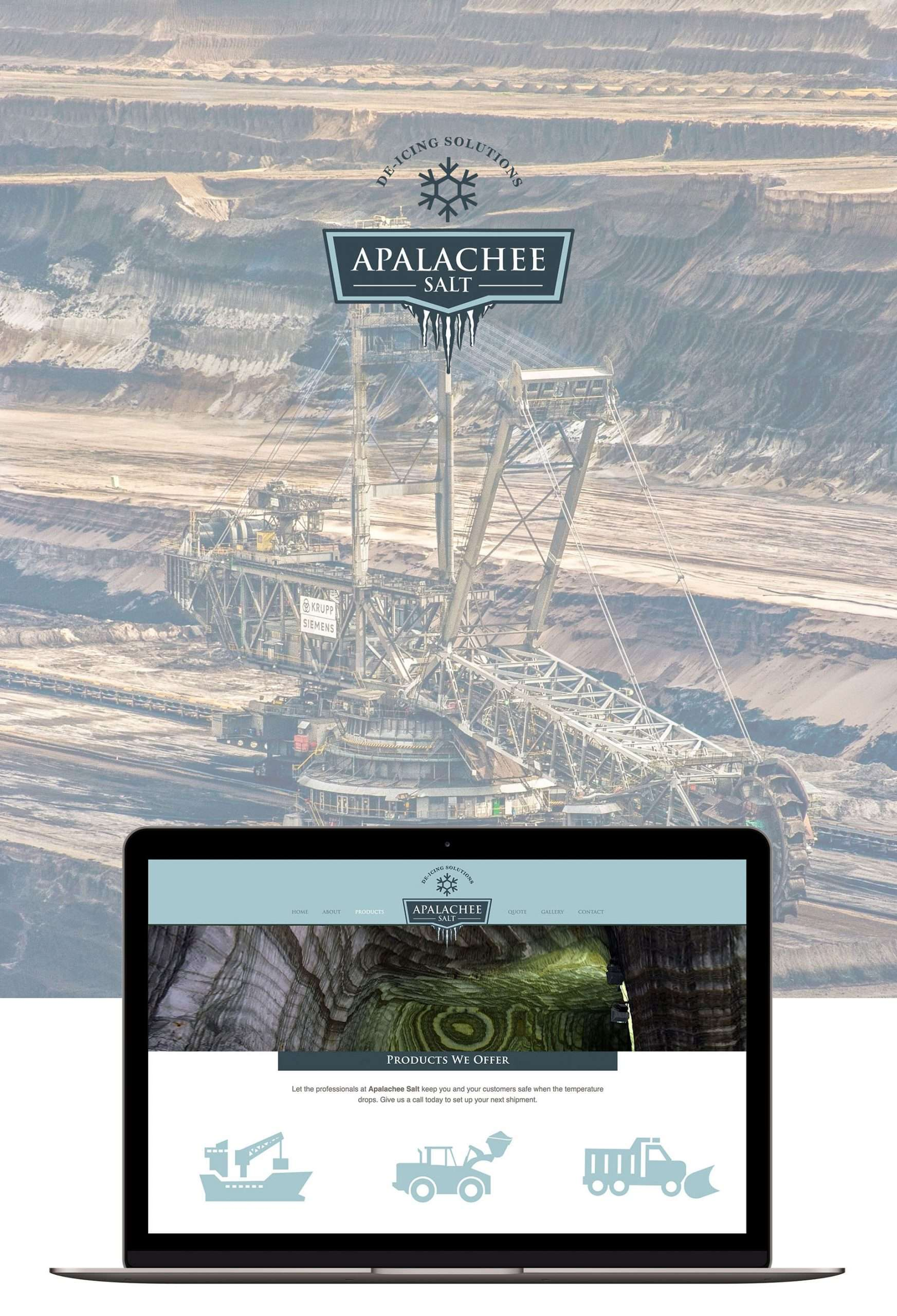 De-Icing website design for Apalachee Salt located in Rochester, NY.